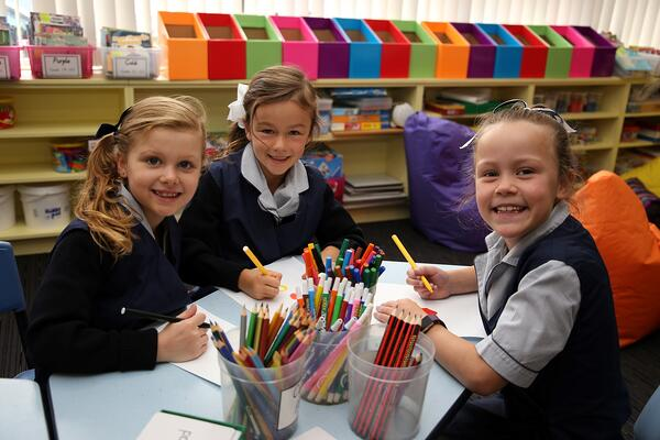 Young school children at Mount Carmel College